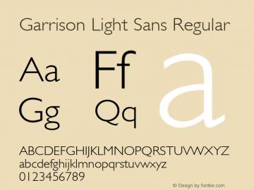 Garrison Light Sans