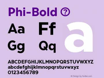 Phi-Bold