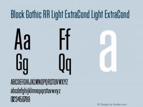 Block Gothic RR Light ExtraCond
