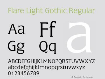 Flare Light Gothic