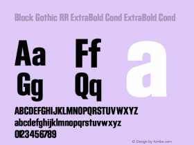 Block Gothic RR ExtraBold Cond