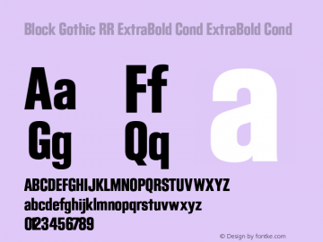 Block Gothic RR ExtraBold Cond