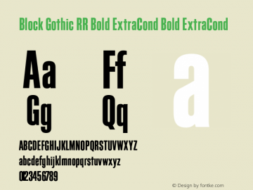 Block Gothic RR Bold ExtraCond