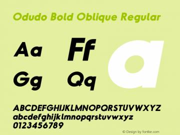 Odudo Bold Oblique