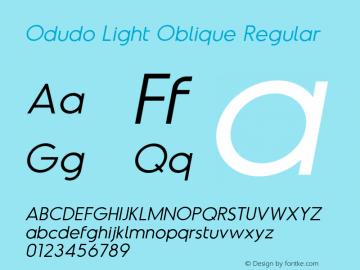 Odudo Light Oblique