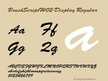 BrushScript-Display
