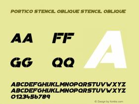 Portico Stencil Oblique