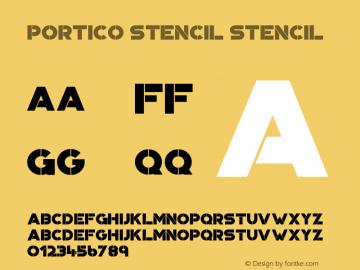 Portico Stencil