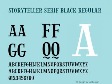 Storyteller Serif Black