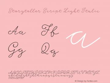 Storyteller Script Light