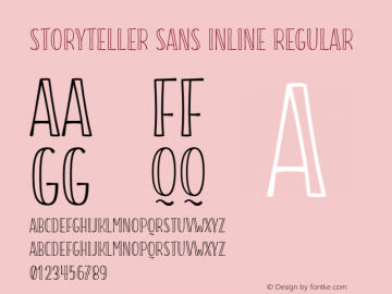 Storyteller Sans Inline