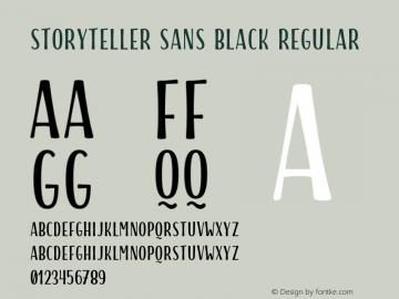 Storyteller Sans Black