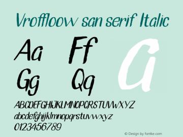 Vroffloow san serif