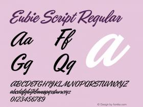 Eubie Script