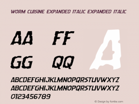 Worm Cuisine Expanded Italic