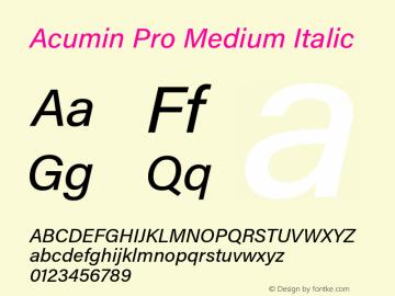Acumin Pro Medium