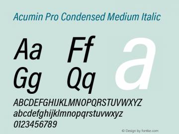 Acumin Pro Condensed Medium