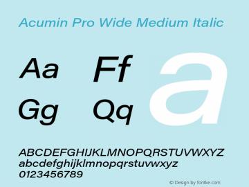 Acumin Pro Wide Medium