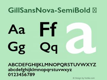 GillSansNova-SemiBold