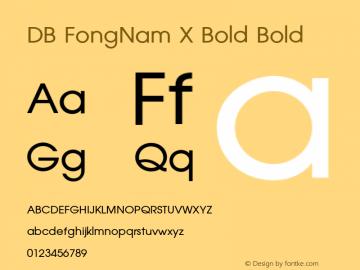 DB FongNam X Bold