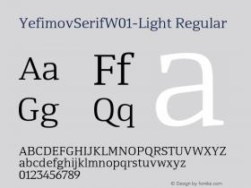 YefimovSerif-Light