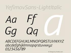 YefimovSans-LightItalic