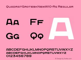 QuadratGroteskNew-Rg
