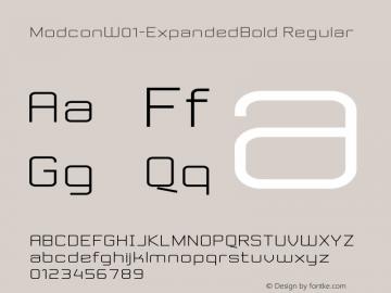 Modcon-ExpandedBold