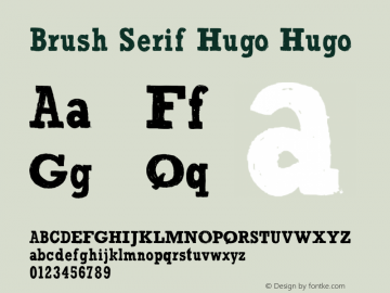 Brush Serif Hugo