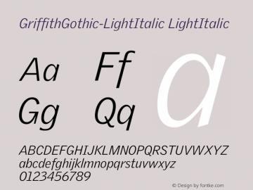 GriffithGothic-LightItalic