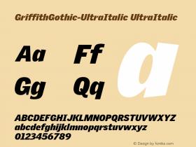 GriffithGothic-UltraItalic