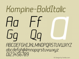 Kompine-BoldItalic