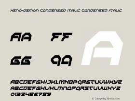 Xeno-Demon Condensed Italic