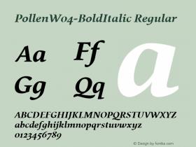 Pollen-BoldItalic