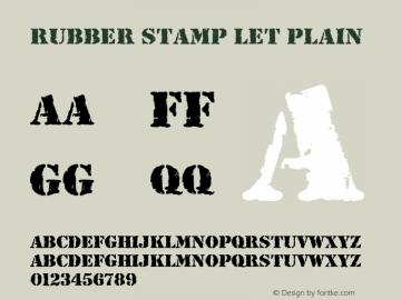 Rubber Stamp LET