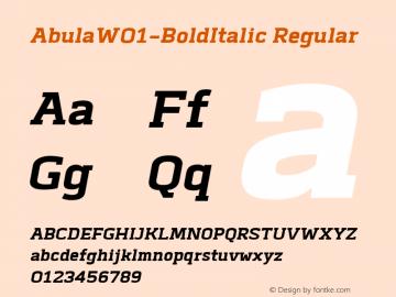 Abula-BoldItalic