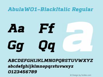 Abula-BlackItalic