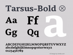 Tarsus-Bold