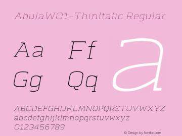 Abula-ThinItalic