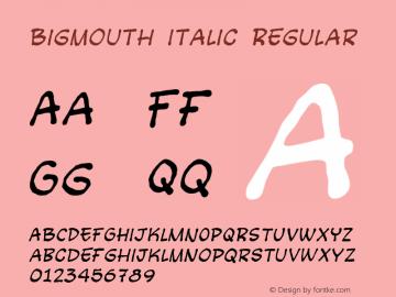 Bigmouth Italic