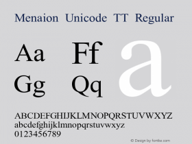 Menaion Unicode TT