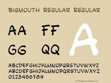Bigmouth Regular