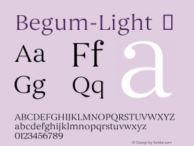 Begum-Light
