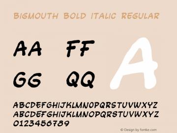 Bigmouth Bold Italic