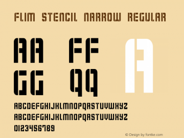 Flim Stencil Narrow