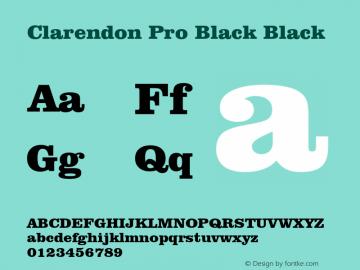 Clarendon Pro Black