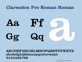 Clarendon Pro Roman