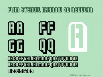 Flim Stencil Narrow 3d