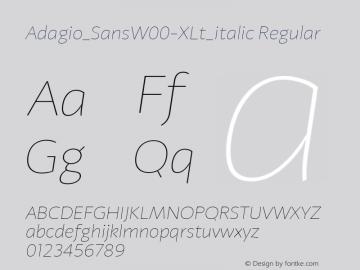 Adagio_Sans-XLt_italic