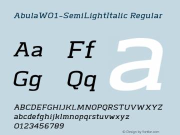 Abula-SemiLightItalic